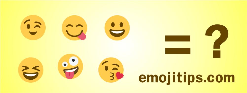 Emoji betydelser
