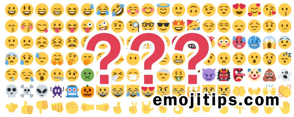 Alla Emojisymboler Och Deras Betydelser